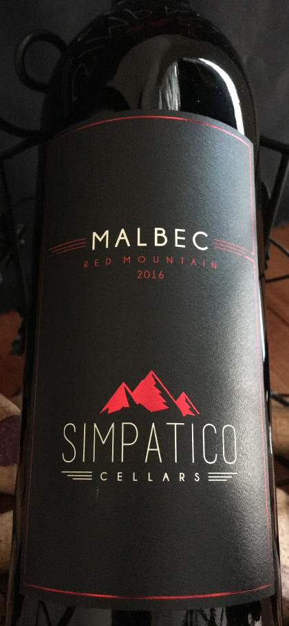 Simpatico Cellars Malbec 2016